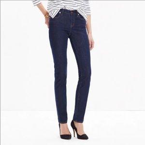 Madewell Alley Straight Stretch Jeans Dark Wash 26